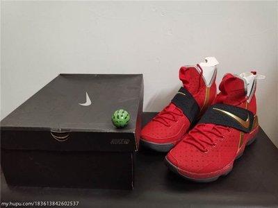 {現貨}LeBron 14 詹姆斯 LBJ14 大红 红金 冠军 绝版 ID 篮球鞋 US15
