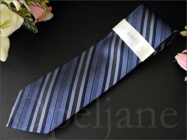 美國 Calvin Klein Tie CK 卡文克萊 百搭藍色純絲 斜紋 手打寬版領帶 西裝襯衫搭配 愛Coach包包