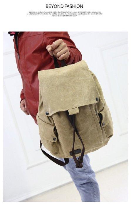 超方便復古抽繩後背包 抽繩背包 大容量 背包 雙肩包 後背包 書包 休閒包 帆布包【BO05】