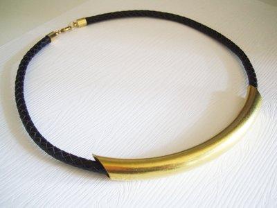 Sophia accessories 【永恆的蒙娜麗莎 】微笑黃銅頸鍊 手作&私飾 輕珠寶  黃銅飾品