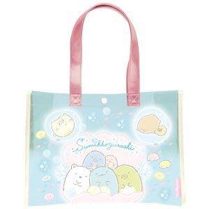 日本進口正版角落生物透明防水包 現貨/角落小夥伴防水購物包 側背包 大方包購物袋 透明提袋 海灘包 玩水包