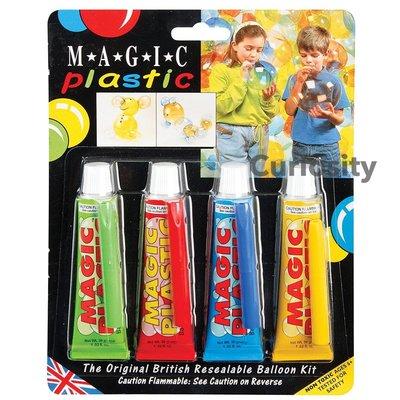 【Curiosity】英國製 MAGIC Plastic 可重複使用無毒塑膠氣球組(4色入) $800↘$699