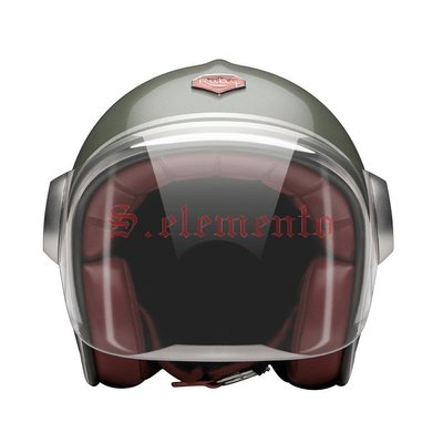 【預購優惠】Ateliers Ruby 安全帽 Belvedere Monceau 碳纖維 3/4 復古帽