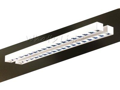 划得來LED燈飾~現代時尚高質感 T8 LED*2 鋁格柵吸頂日光燈空台 OA辦公室照明 另有辦公吊燈(P60291)
