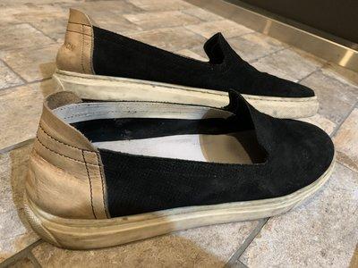 日本設計師品牌 PHENOMENON 黑色麂皮 樂福鞋 便鞋,Size:44 可參考 Kenzo 川久保玲