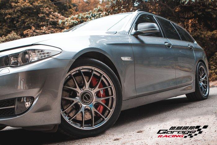 德朋國際 / ㊣ RAYS G27 彩鈦 輕量化 單片鍛造 日本原裝 BMW F11 520D 實裝
