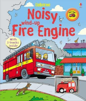 全新現貨 Noisy Wind-Up Fire Engine (遊戲書)Usborne