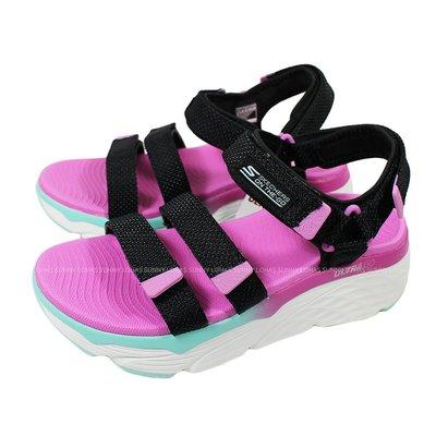 (B3) SKECHERS Max Cushioning-Slay 女休閒涼鞋 140120BKMT 緩衝 [迦勒]