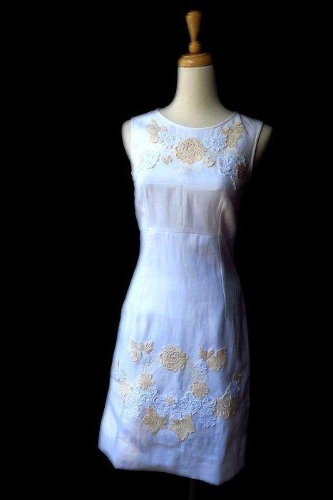 *Beauty*DOLCE&GABBANA白色蕾絲貼花背心洋裝I36號 20000 元WE17 原價74000元