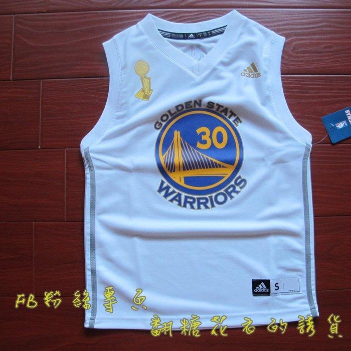 美國NBA 官網正品 adidas 兒童 青年球衣 籃球背心 庫里 Curry 勇士隊