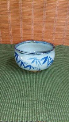(店舖不續租清倉大拍賣)陳永皓先生---青花寬口茶碗,原價2380元特價1200元