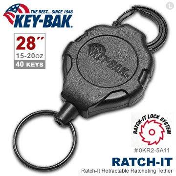 "【EMS軍】美國KEY BAK Ratch-It 鎖定系列 28"" 極度負重伸縮鑰匙圈(附扣環)-(公司貨)"