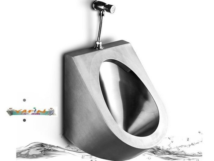 【yapin小舖】不繡鋼小便斗/掛牆式小便器/公共衛生空間/美觀大方好清理