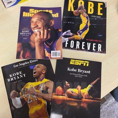 美國AMPM ESPN 雜誌 Kobe Bryant 柯比‧布萊恩 紀念特刊 體育畫報 洛杉磯日報