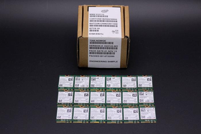 【庫存品】 M.2無線網卡 Intel 雙頻 Wireless-AC 7265 802.11ac 867Mbps