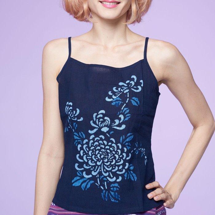 !中國藍Anewei藍染無袖上衣/背心-SMLXL2L-另有搭配外罩衫