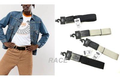 【RACE】VANS CONDUCTOR BELT 皮帶 LOGO 經典 布面皮帶 鐵製頭 黑 灰褐