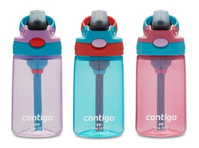 Look小舖 Contigo Gizmo 2.0  防漏 兒童 吸管 水瓶 三件組  414 毫升 *3件  水壼