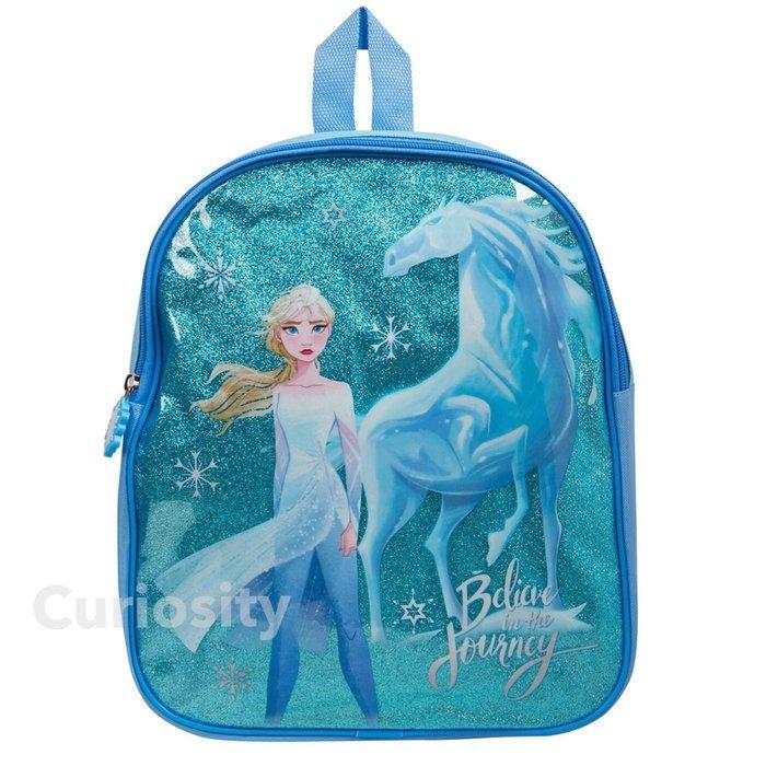 【Curiosity】DISNEY迪士尼 Frozen 冰雪奇緣2 正面閃亮感後背包-Elsa艾莎款 $700↘$550