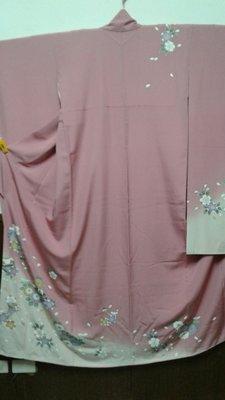 [兔尾屋   和服專賣]  振䄂  粉紅色系花卉圖案