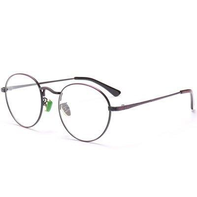 眼鏡 框 圓框 鏡架-文藝氣質復古細邊男女平光眼鏡4色73oe58[獨家進口][米蘭精品]
