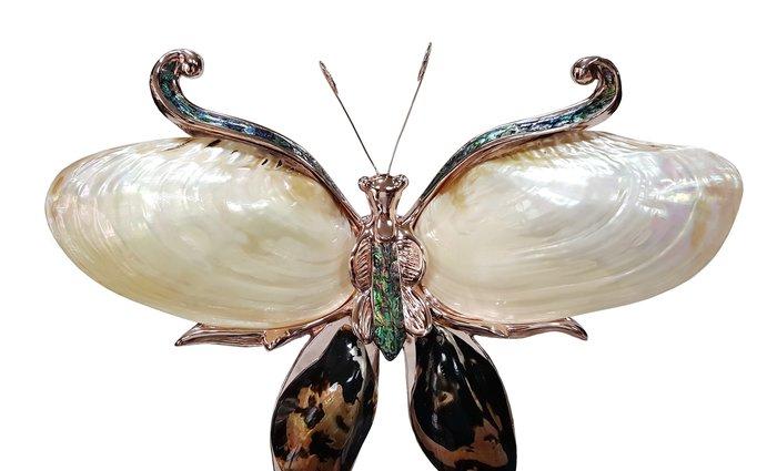 【喬尚拍賣】蝴蝶壁燈 鑲貝工藝品 歐風擺飾 樣品貨僅此一件