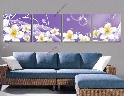 【50*50cm】【厚2.5cm】經典花卉-無框畫裝飾畫版畫客廳簡約家居餐廳臥室牆壁【280101_431】(1套價格)
