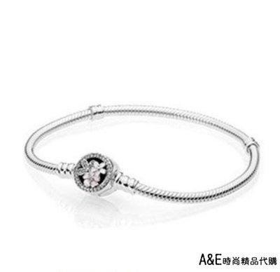 A&E精品代購 Pandora 潘朵拉 鑲鑽盛開的花朵手鍊  925純銀 Charms 精品代購