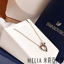 Melia 米莉亞代購 商城特價 數量有限 Swarovski 施華洛世奇 飾品 項鍊 LOVELY 繩結愛心 浪漫清新
