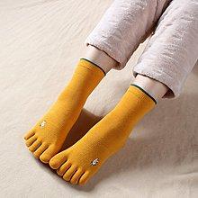 【berry_lin107營業中】秋冬純棉女生五指襪 高品質全棉吸汗刺繡女款腳趾襪 可愛分趾襪子