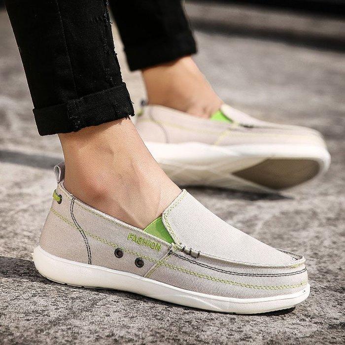 時尚男鞋套腳男鞋老北京帆布鞋爆款牛仔布防滑百搭板鞋男