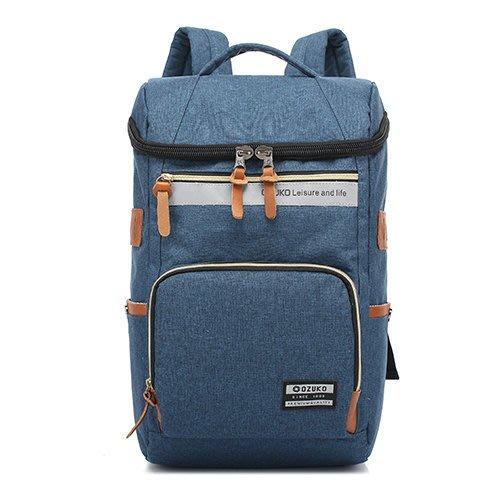 (O.Z)韓版時尚尼龍後背筆電包15.6吋 OZ1401BU藍色