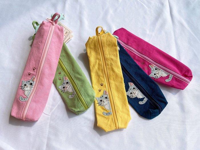 日本卡拉貓~小灰貓腳丫筆袋 餐具袋