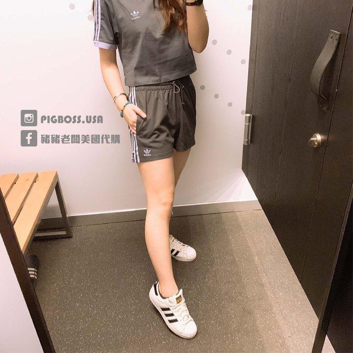 【豬豬老闆】 ADIDAS ORIGINALS SHORTS 灰 休閒 運動 短褲 女款 DX4251