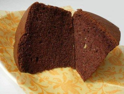 巧克力香蕉戚風蛋糕(8吋)~低糖低脂!! ╭ 蓁橙烘焙 ╮