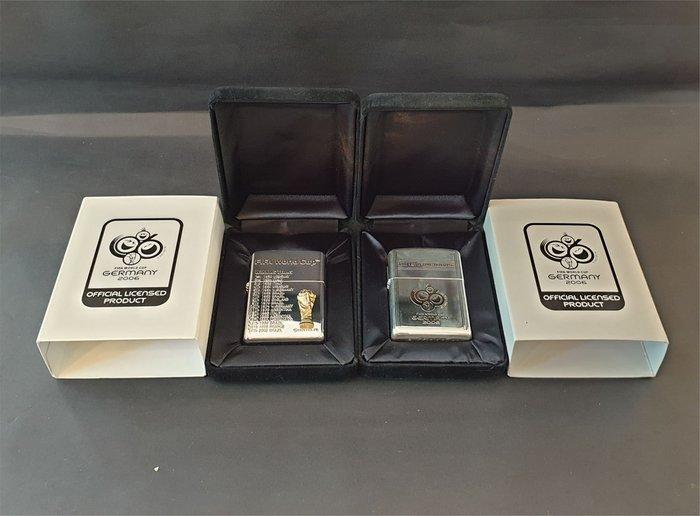 ONE*$1~日系ZIPPO*GERMANY 2006《世界盃/足球賽*限定版》兩面加工*序號:..兩款一起賣