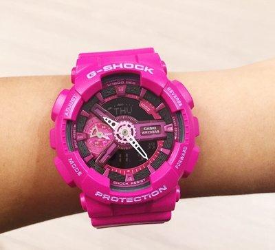 FOCA G-SHOCK GMA-S110MP-4A3 桃紅 MANNISH PINK 桃黑 系列  卡西歐 女錶