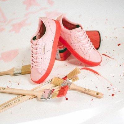 【吉米.tw】ADIDAS 果凍底女鞋 ORIGINALS SLEEK 紅色 楊冪 增高 BD7475 AUG a