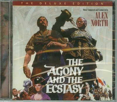 """萬世千秋-完整版(Agony and the Ecstasy)""- Alex North(21),全新美版"
