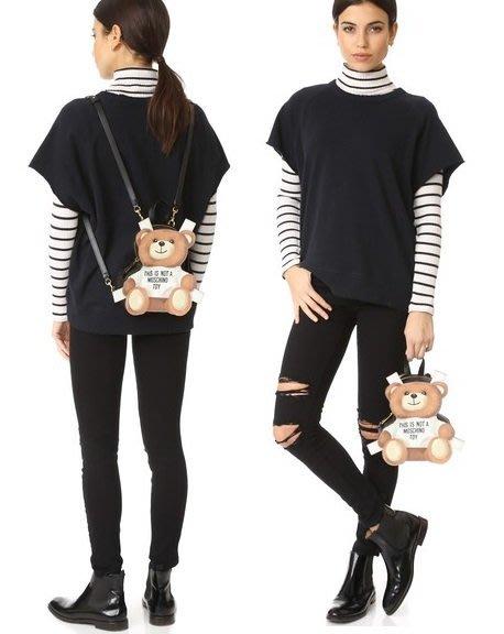 ◎美國代買◎Moschino可愛小熊圖案立體小熊形狀後背包