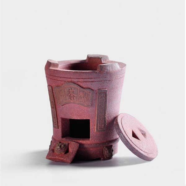 5Cgo【茗道】含稅會員有優惠 520027250890 功夫茶爐紫砂茶爐煮茶壺套裝工夫炭爐風爐燒水壺紅泥碳爐焼茶爐