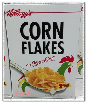 Φ小知足ΦCOSTCO代購 KELLOGG'S CORN FLAKES家樂氏原味玉米片 早餐脆片組 600GX2入