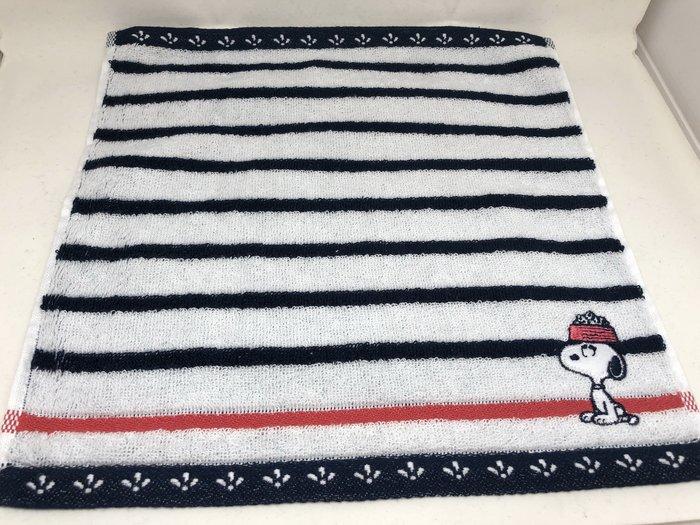日本 史努比 條紋系列 小方巾/手帕