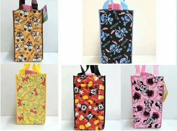 【正版】迪士尼 保冷飲料 手提袋//購物袋 ~~五款可選~~