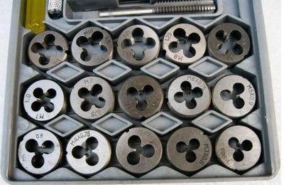 福田商城=40件組合套絲(攻螺絲牙)工具 絲錐板牙套裝 專攻螺紋 超硬度螺紋精確