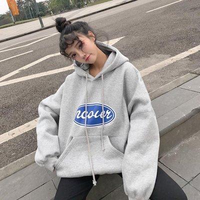 秋冬季INS衛衣2018新款女長袖韓版寬鬆學生原宿BF風加絨加厚外套