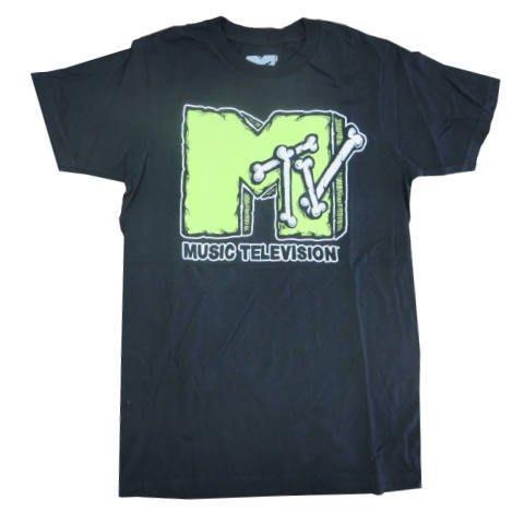 (I LOVE樂多) 美國進口 MTV骨頭造型 短袖T桖 短T