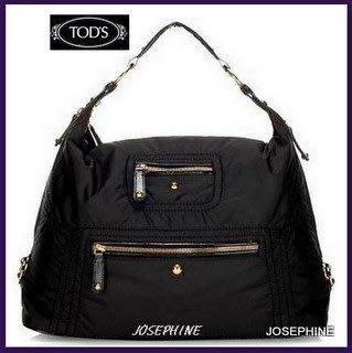 喬瑟芬【TOD S】超值特價$24000含運~黑色 PASHMY SACCA 大型 側肩背包