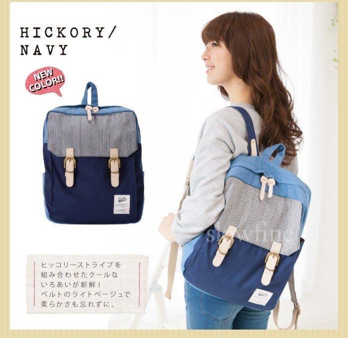 日系原單拼色撞色純色純棉帆布雙肩包背包書包