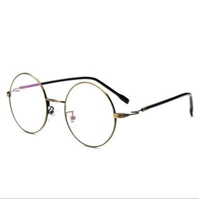 眼鏡 框 圓框 鏡架-時尚熱銷文藝復古男女平光眼鏡5色73oe22[獨家進口][米蘭精品]